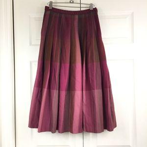 Pendleton wool skirt retro style burgundy plaid